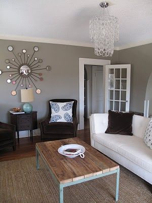 Gray Living Rooms Sunburst Mirror And Gray On Pinterest