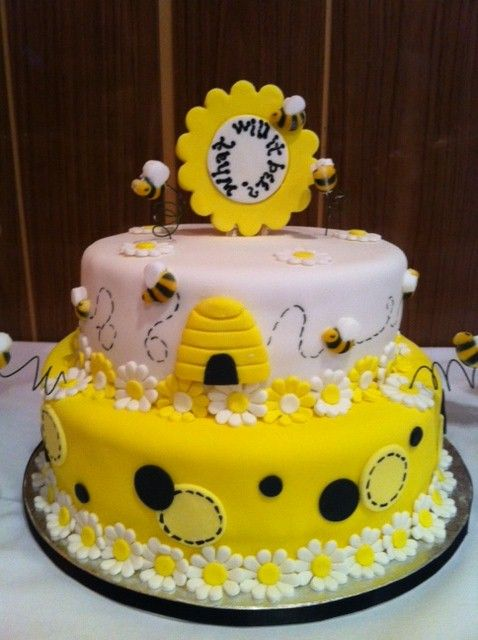 Bumble Bee Baby Shower Cake Design Bee Themed Party