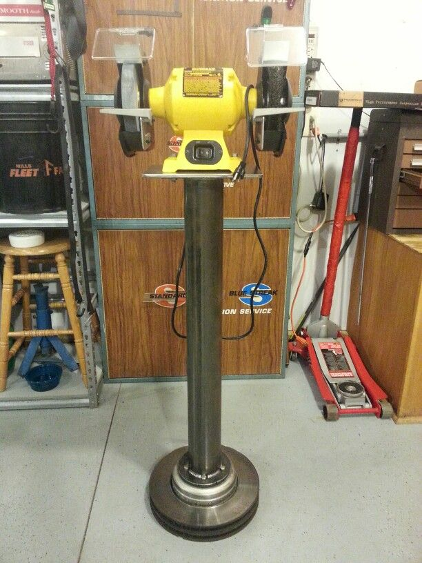 Bench Grinder Stand Project Welding Table Pinterest