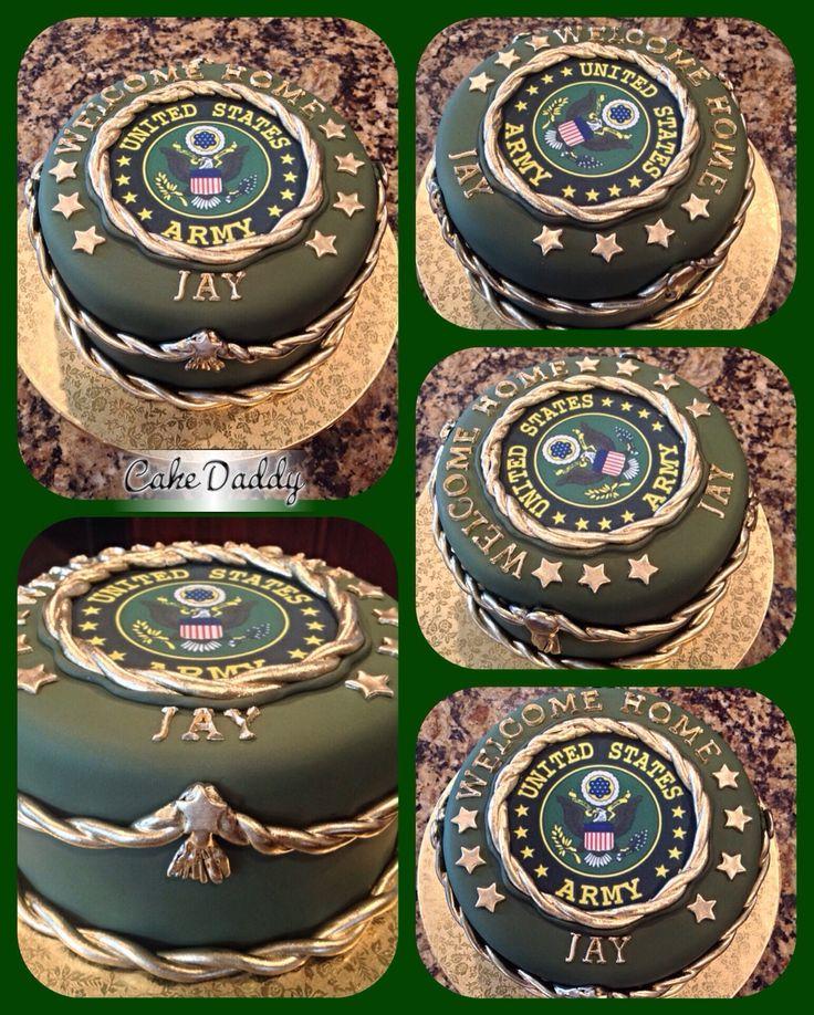 U S Army home cake. Custom Cakes by Cake Daddy