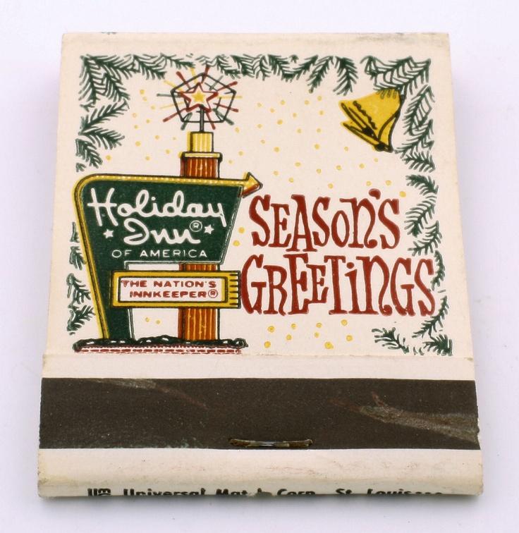 """Vintage Holiday Inn Hotel """"Season's Greetings"""" Matchbook"""