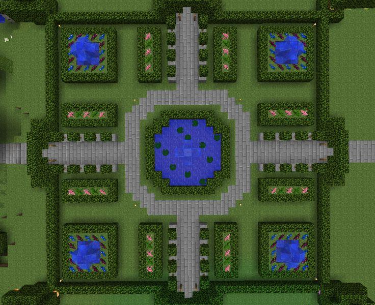 Garden map Minecraft designs Pinterest Gardens, Be