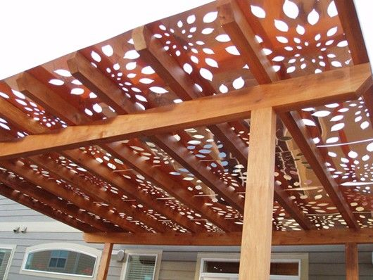 Build A Pergola And Cover It With These Panels Awesome