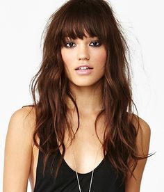 25 best ideas about long haircuts with bangs on pinterest side bangs long hair bangs long