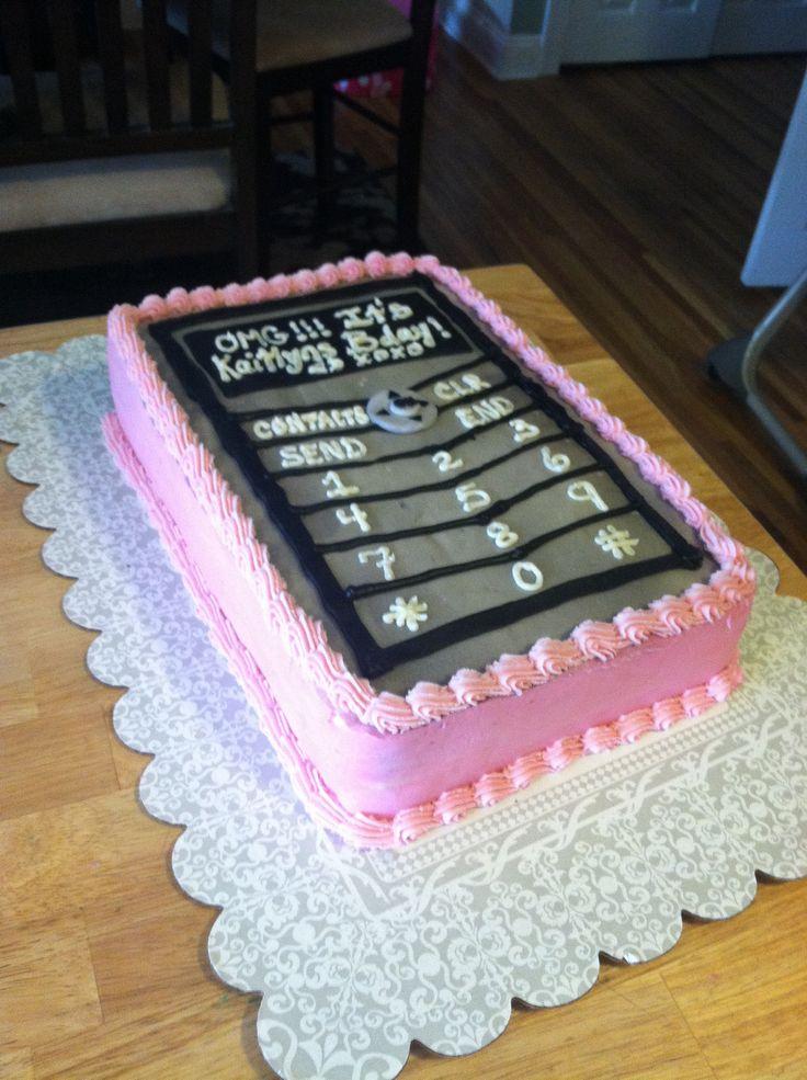 Cell Phone Cake Kids Birthday Cakes Fondant Cake