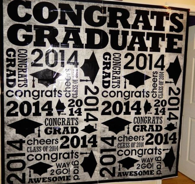 Cali graduation class of 2014 backdrop banner photo booth