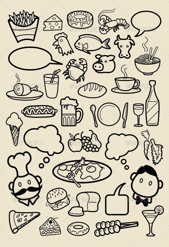 Restaurant Icon Sketches Beer food, Restaurant and Crabs