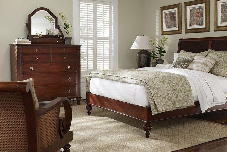 Ethan Allen Bedroom Furniture British Classics Island Style Sleigh Bed Monochromatic Ethan