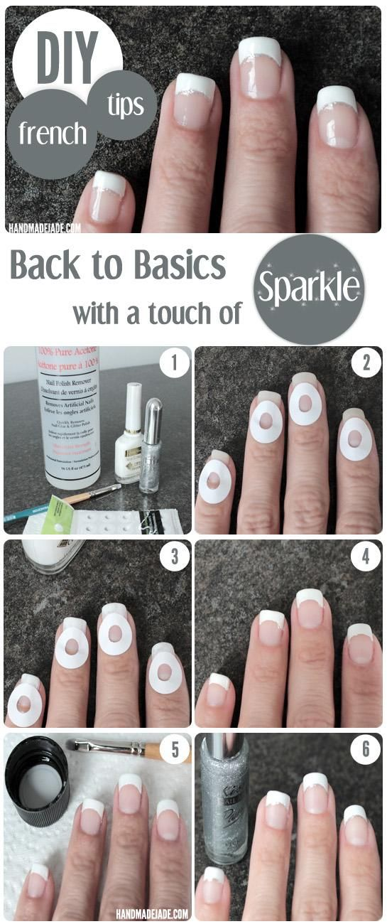 DIY French Manicure DIY Nails Art – wasnt as easy as it seems but easier than ha