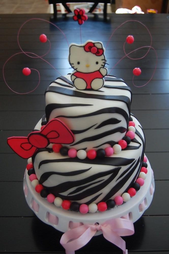 O Kitty Zebra Cake Edible Elegance