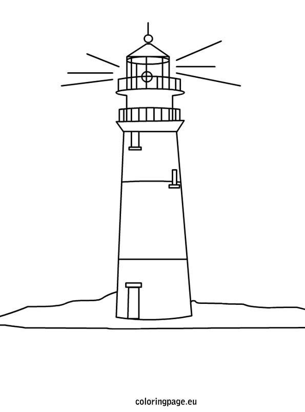 lighthouse drawing lighthouses and coloring pages on pinterest