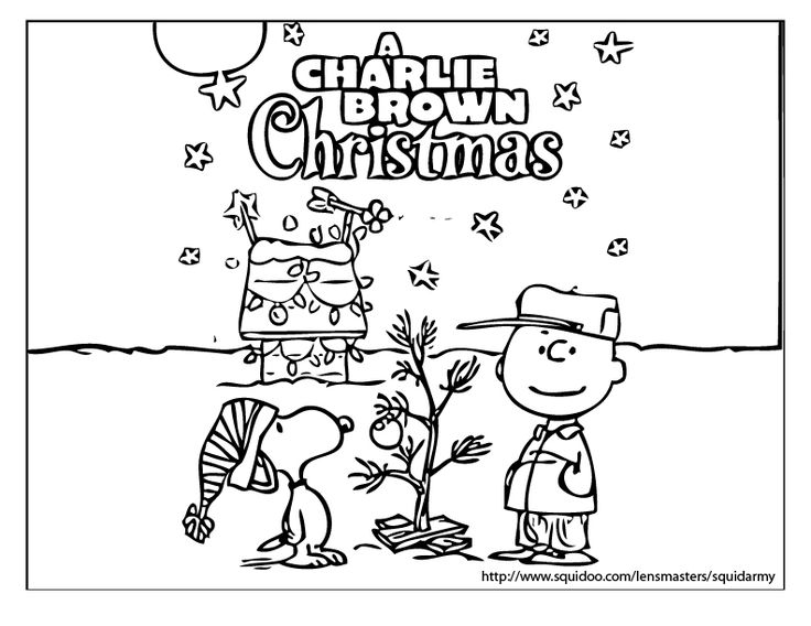 charlie brown christmas coloring sheets  charlie brown