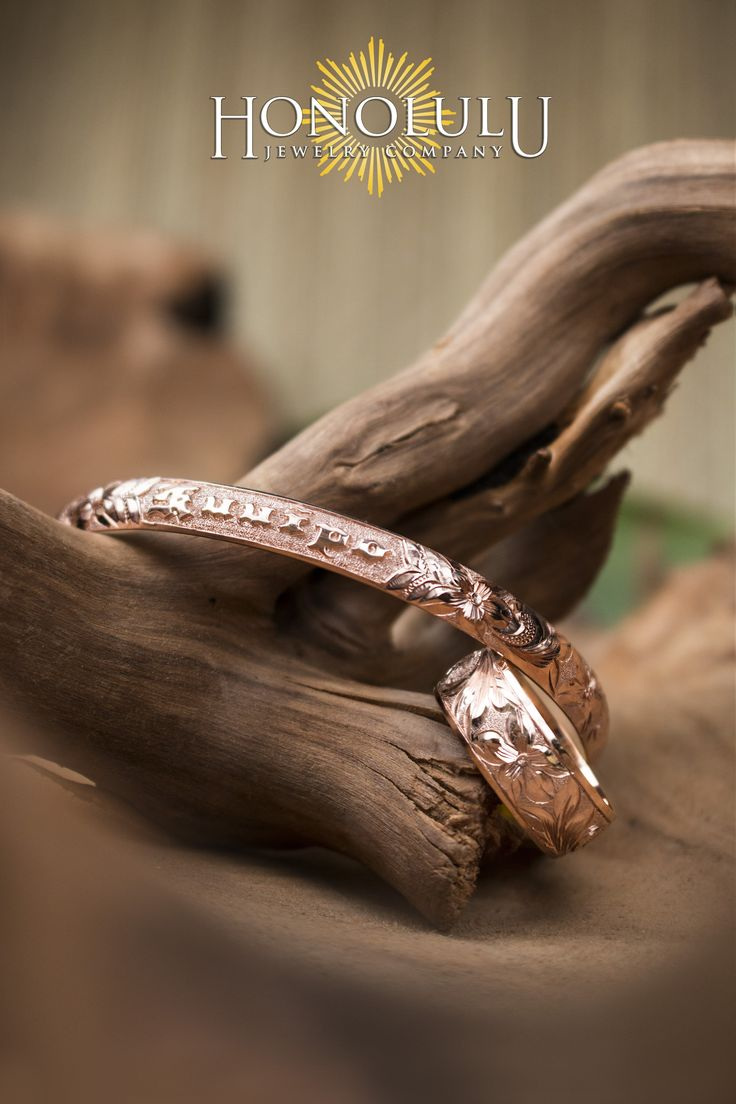 Custom Hawaiian Heirloom Bracelet And Ring Rose Gold With