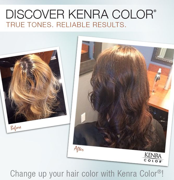 Filled With Kenra Color Copper Pre Pigment Then 5N5B