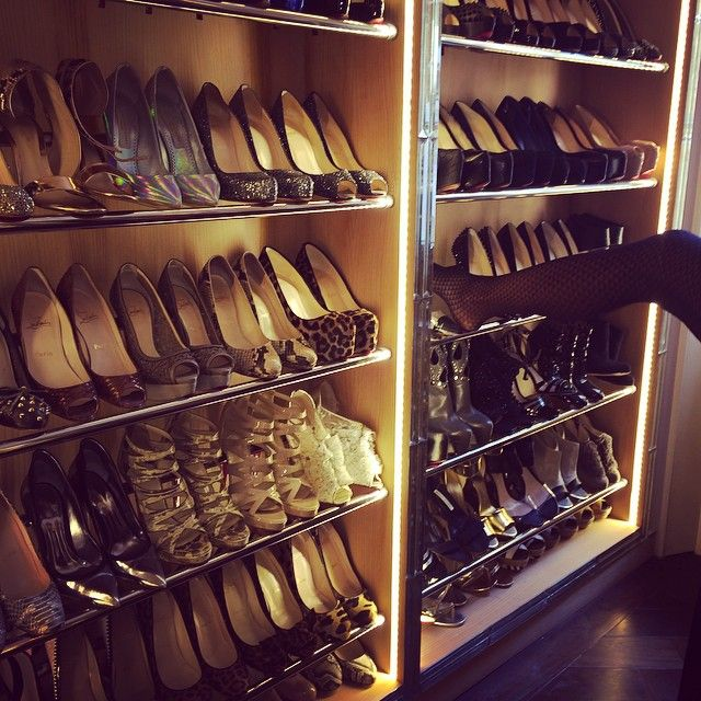 Shoes In Closet Of Baroness Caroline Fleming Closets