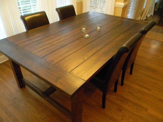 84 Long Extra Wide Farmhouse Dining Table Via Etsy I Want