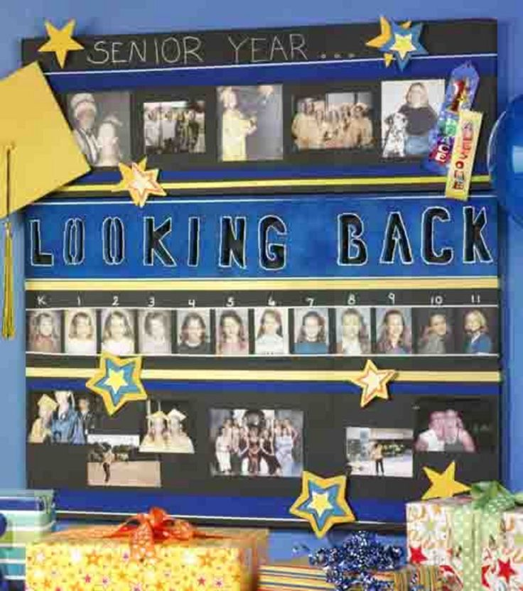 #Graduation memories :) Love adding the school pictures from kindergarten through middle school and high school.  Great decoration for a graduation