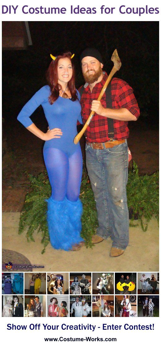 Homemade Costumes for Couples – tons of DIY costume ideas!  Omg when JP gets hom