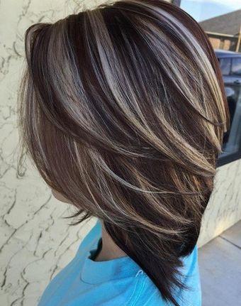 best 25 dark hair with highlights ideas on pinterest