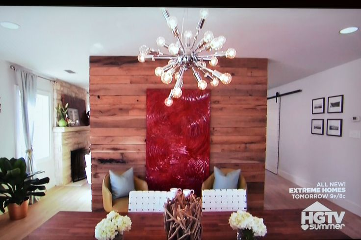 Property Brothers Wood Clad Wall Retro Asterix Light Fixture Wood Barn Dining Table