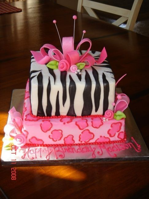 Birthday Party Ideas For 12 Year Old Girls Zebra Print