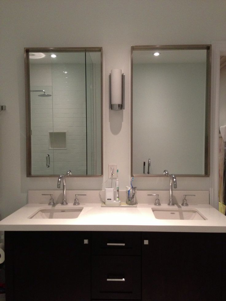 Build A Double Vanity Our Space Was Only 54 Inches Wide Most Double Vanities Are 60 Inches Or