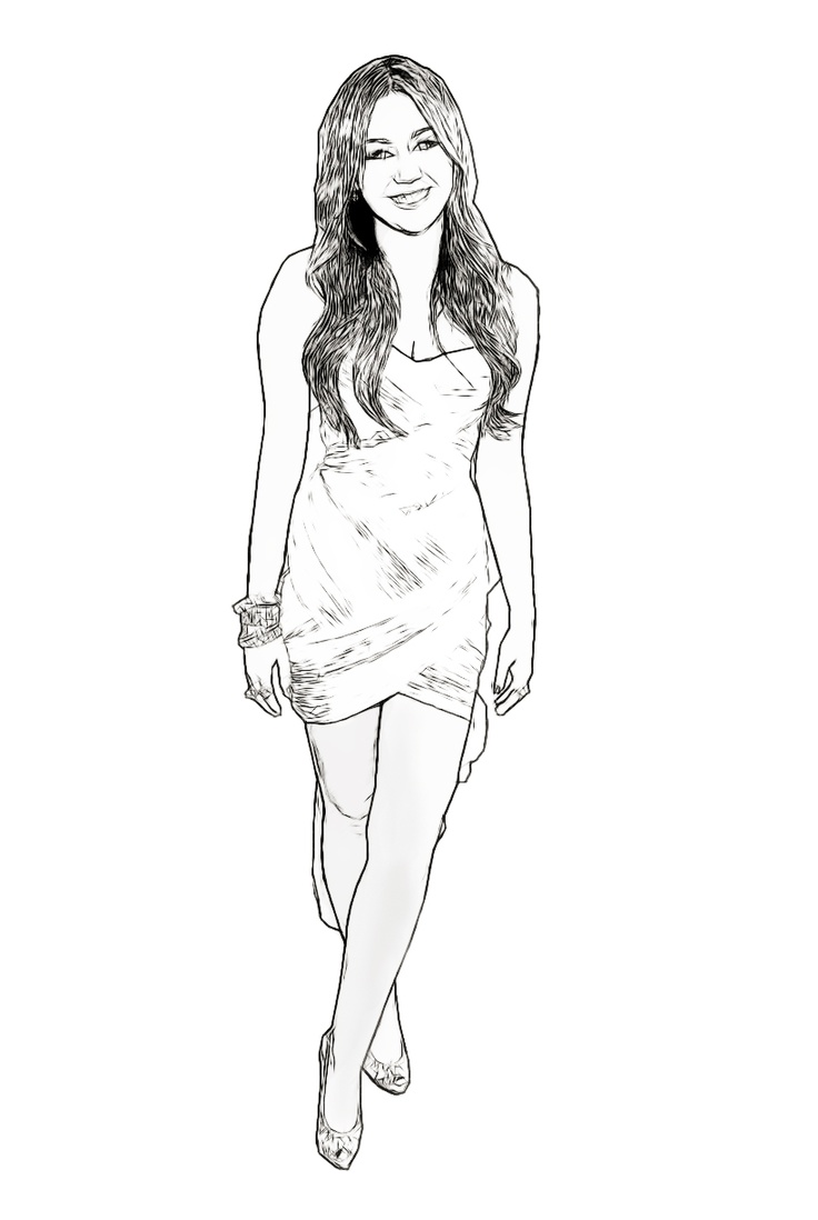 miley cyrus coloring pages and created by on pinterest