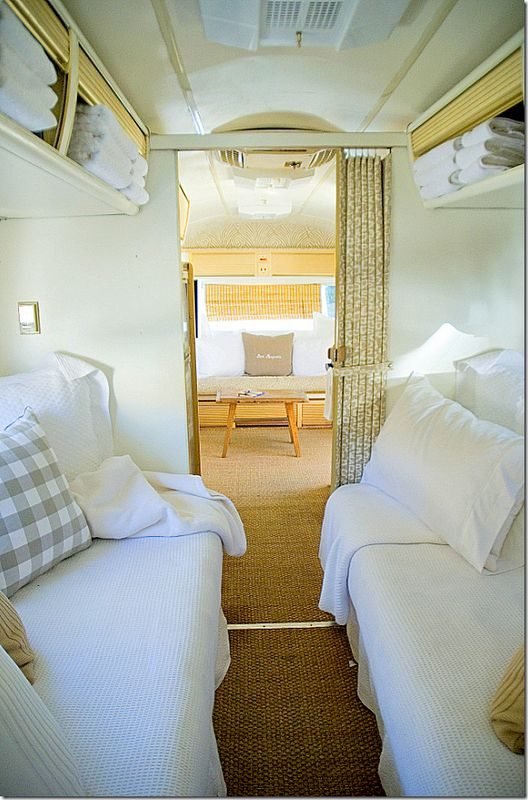 1970s Airstream bedroom  -for when I get my Airstream, you know, when that lotte