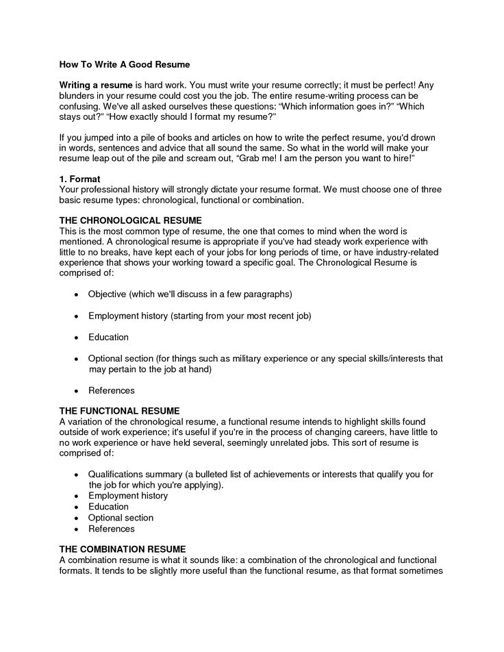 Writing Good Resumes. How To Make A Resume For A 16 Year Old 9