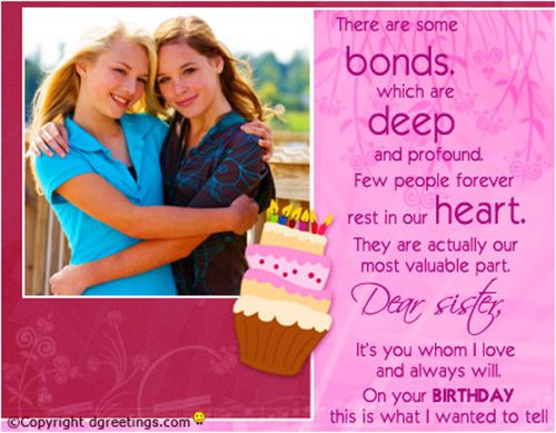 Cards Sister Facebook Free Birthday
