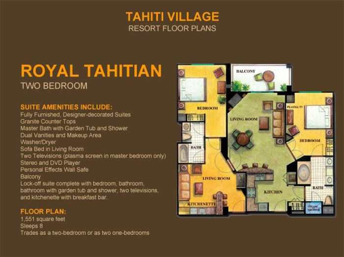 2 Bedroom Suites In Las Vegas - Royal Tahitian