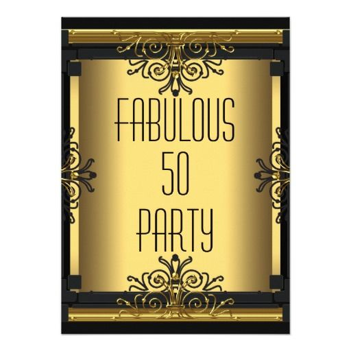 Black Birthday And Invitations Gold