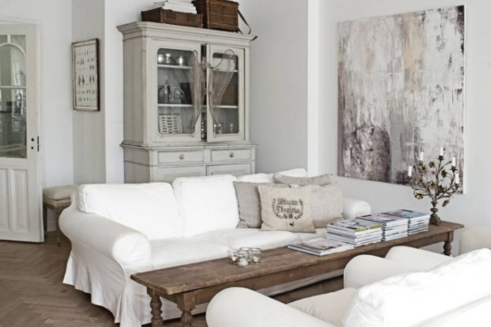 Image result for white living room rustic style decorating