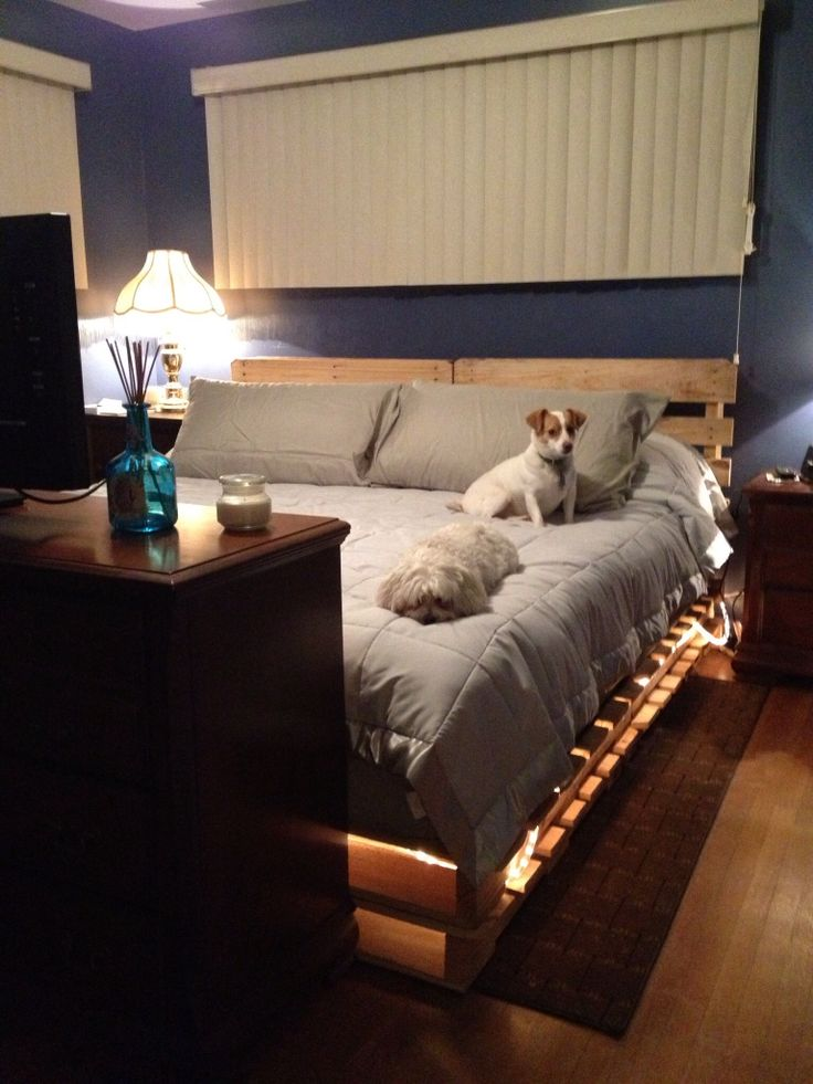 Made Our Own King Sized Platform Bed With Refurbished