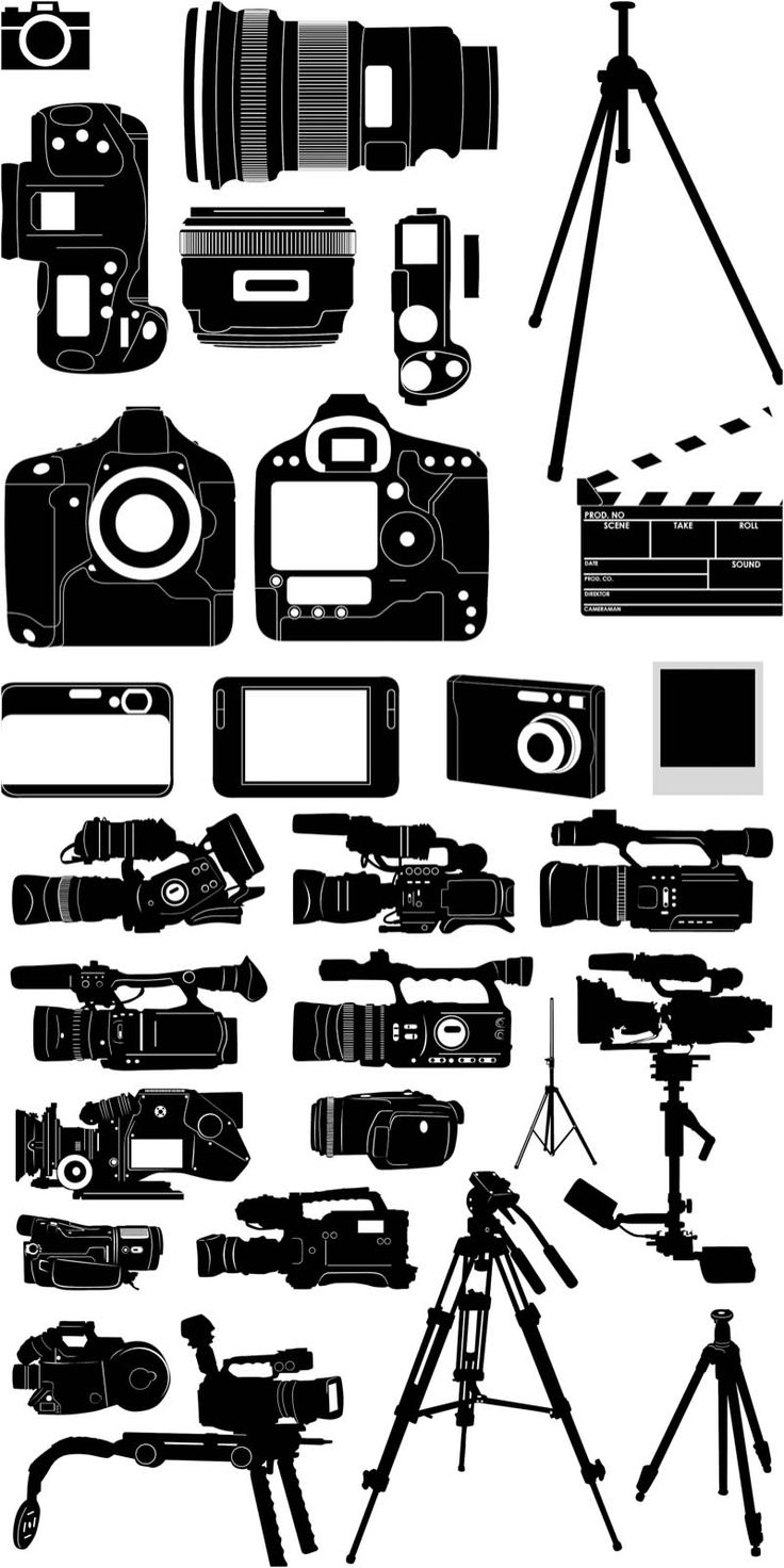 silhouette of the camera vector Design Resource (PSD