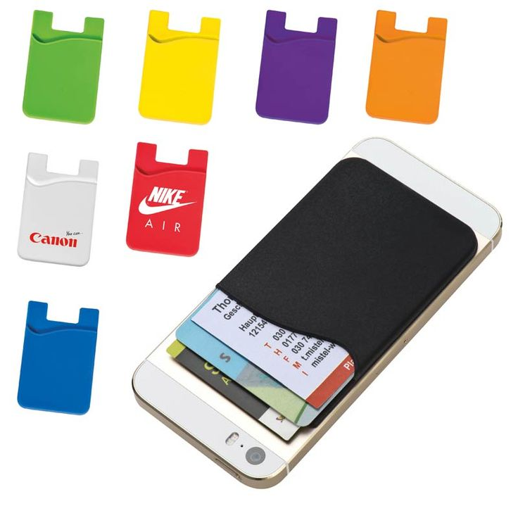 Adhesive silicone phone wallet phone card holder south