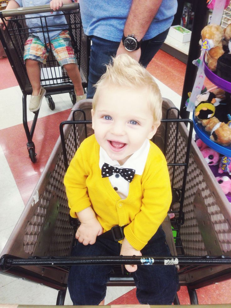 The well dressed baby boy (bow tie, cardigan, jeans