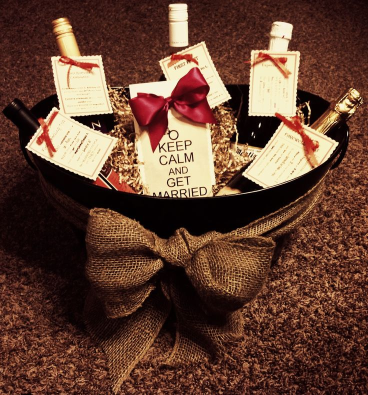 Bridal shower gifts, Shower gifts and Gift baskets on