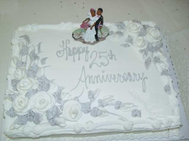 25th Anniversary Cakes Designs