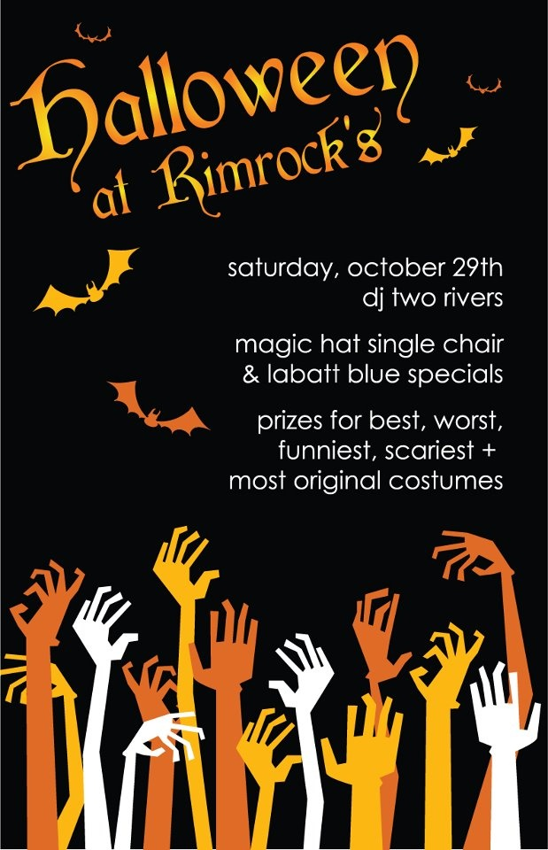 Halloween Party Poster Marquis Creative Print Design