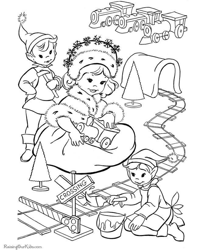 best images about christmas vintage coloring page on