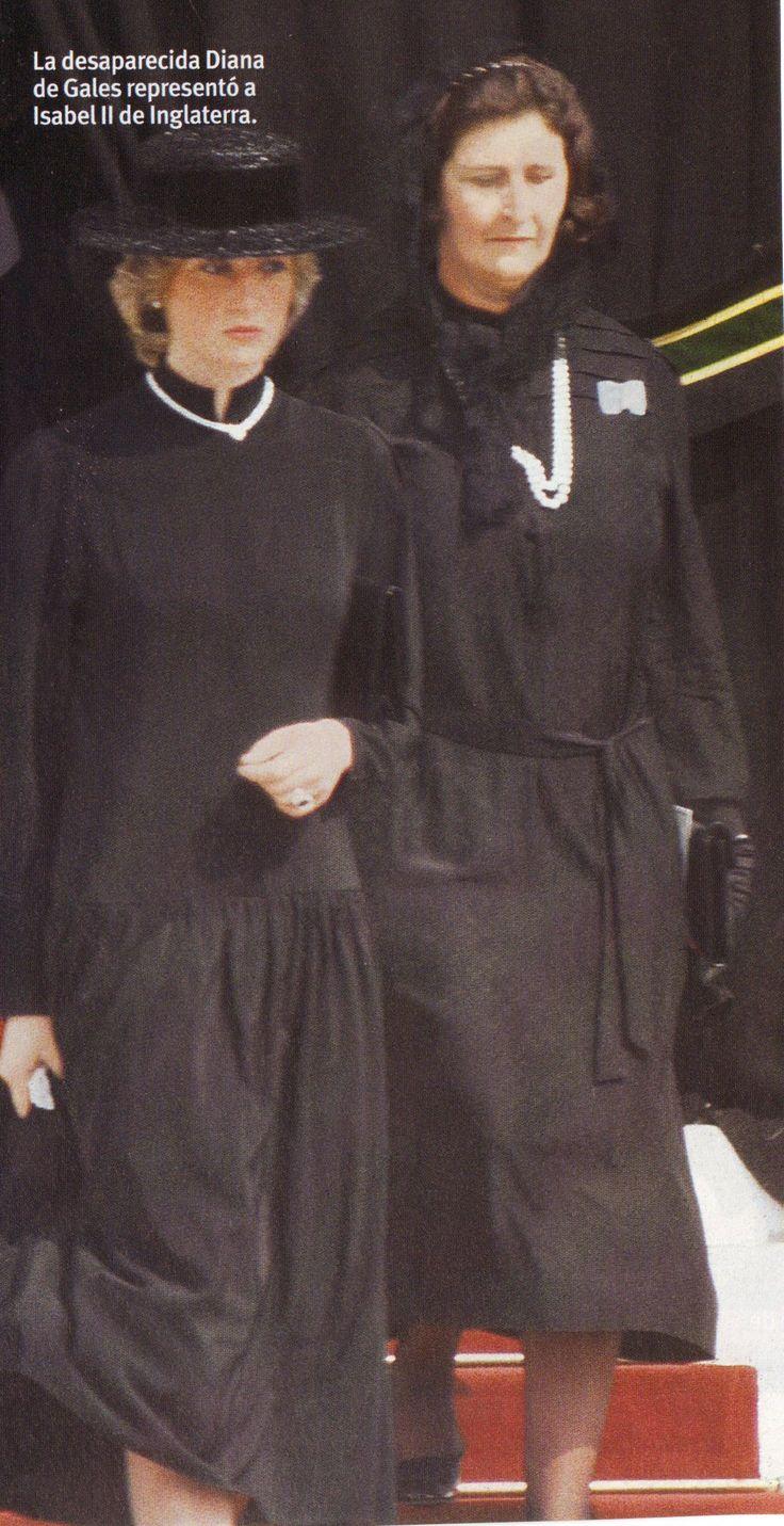 Diana at Princess Grace's funeral Diana, Princess of