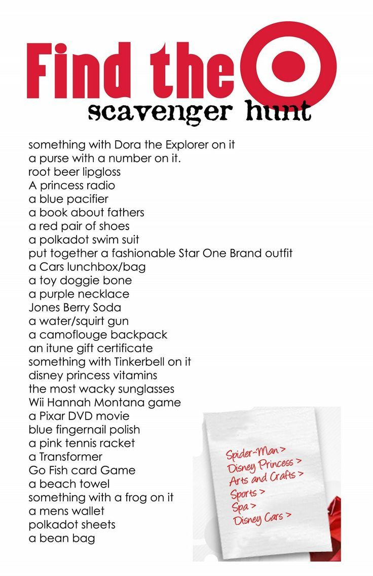Target Scavenger Hunt The Kiddles.... Pinterest