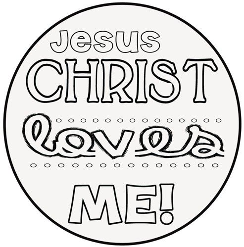 Jesus Loves Me Printable Coloring Pages Pinterest