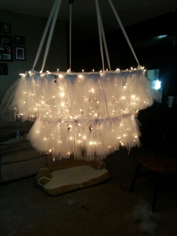 Hula Hoop Chandelier With Tulle My Brother Is Getting Married Pinterest Dance Floors