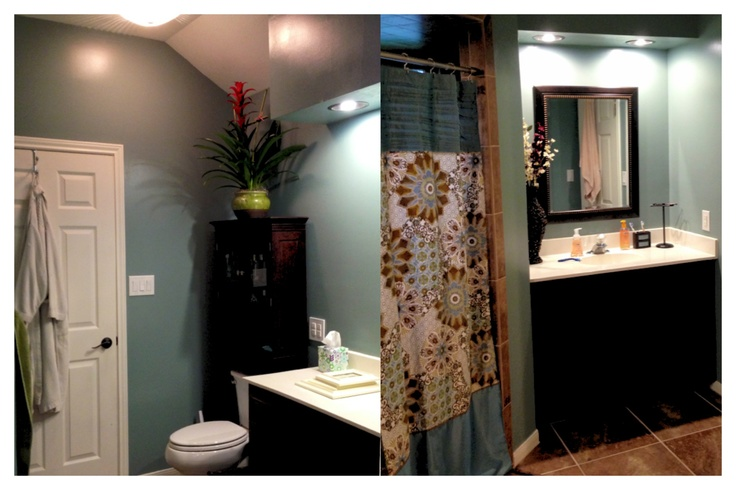 Finally Finished Our Bathroom Love The Agave Paint Color