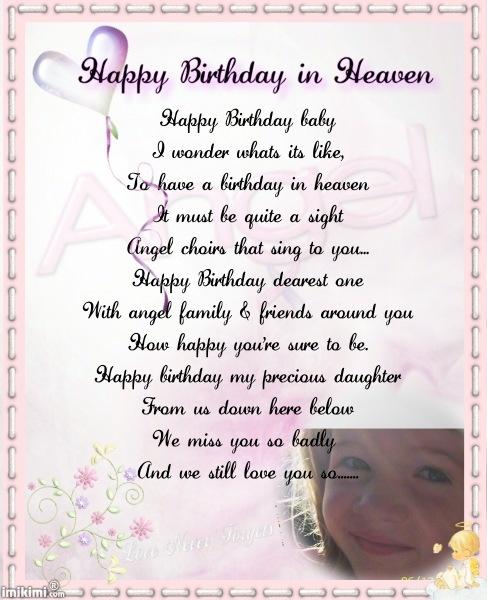 Happy Birthday in Heaven celebrating birthday in heaven
