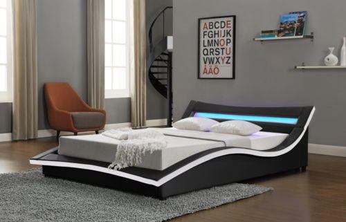 Details About New Modern Designer Bed LED Light Headboard