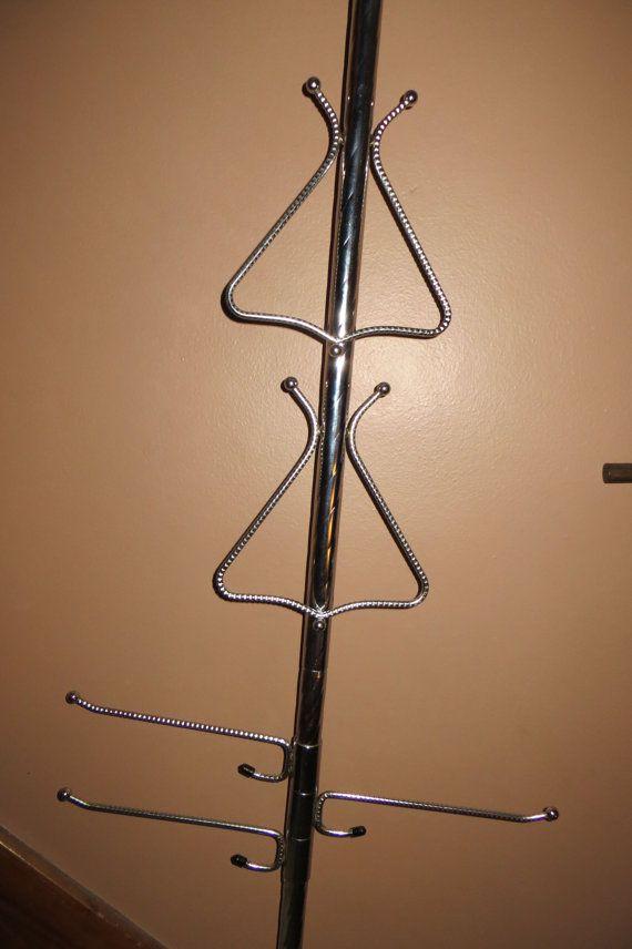 Vintage Tension Pole Towel Bar Spring Loaded 8 By