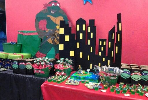City Scene Background Tmnt Party Theme Tmnt Party